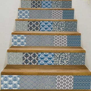 Chezmax 3d Retro Pattern Stair Risers Stickers Set Staircase Decals Removable Waterproof Mural Wallpaper For Home Decoration Overstock Com Shopping