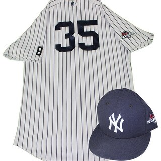 Michael Pineda Uniform NY Yankees 2015 Game Issued 35 Pinstripe Jersey Hat and Pants with Yogi Ber