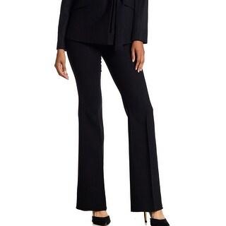 Theory NEW Black Women's Size 10 Wool Stretch Flare Dress Pants