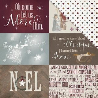 "Luke 2 Double-Sided Cardstock 12""X12""-4""X6"" Cards"