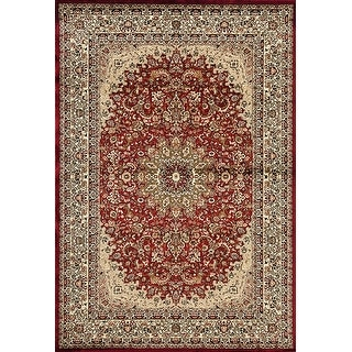 Hollywood Collection Burgundy/Ivory Area Rug