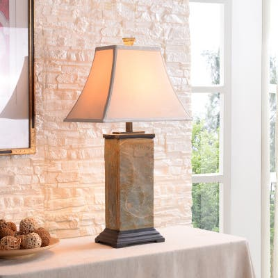Copper Grove Hersey Natural Slate 3-way Table Lamp