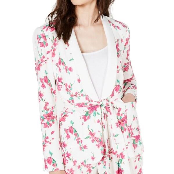 Rachel Zoe Women's Jacket Pink Size 4 Tie Waist Floral Shawl Collar. Opens flyout.