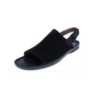 9885dbb9c Shop Clarks Womens Flat Sandals Nubuck Open Toe - 7 medium (b