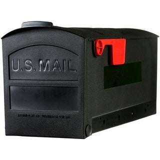 "Rubbermaid MB505B01 Plastic Mailbox, 20-1/4"" x 9-1/2"" x 8-1/4"", Black"