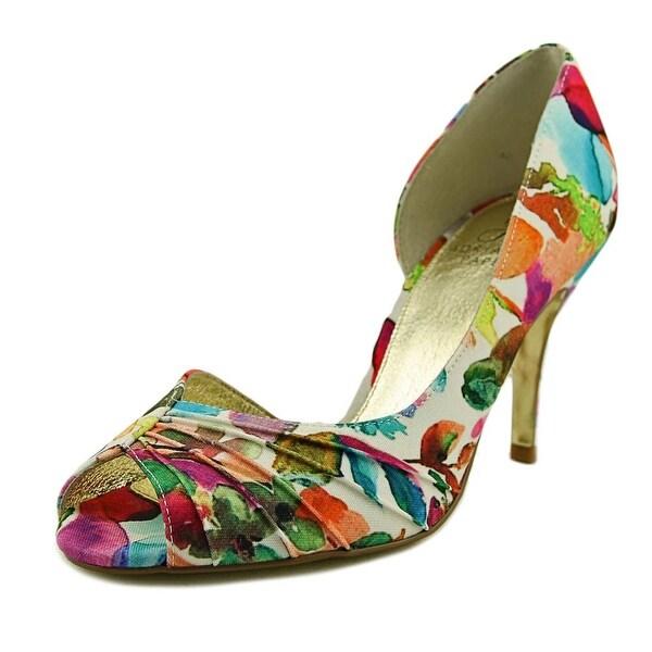 Adrianna Papell Flynn Women Peep-Toe Canvas Heels
