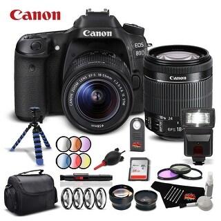 Canon 80D Camera + Canon 18-55mm Lens Starter Kit Intl. Model