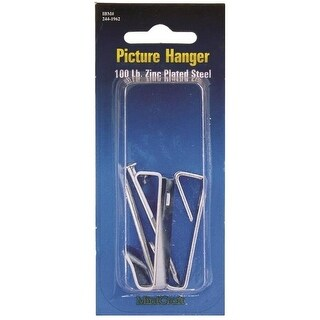 Mintcraft PH-121100-PS Picture Hanger, Zinc Plated, 2/Pack
