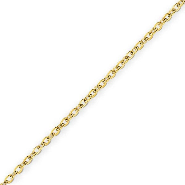 Stainless Steel IP Gold-plated 2.3mm Cable Chain - 22 Inches (2.3 mm) - 22 in