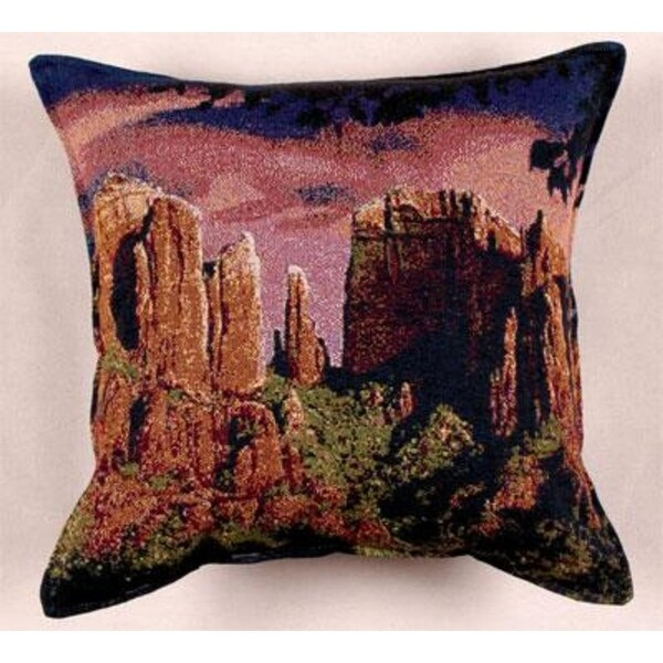 "Sedona Sunset Southwestern Decorative Throw Pillow 17"" x 17"""