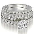 2.35 cttw. 14K White Gold Two Row Round Cut Diamond Bridal Set - Thumbnail 0