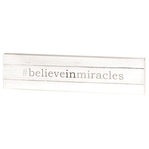 """16"""" White and Gray Religious Themed Inspirational Quoted Wall Plaque - N/A"""