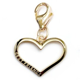 Julieta Jewelry Best Friends Heart Outline Clip-On Charm