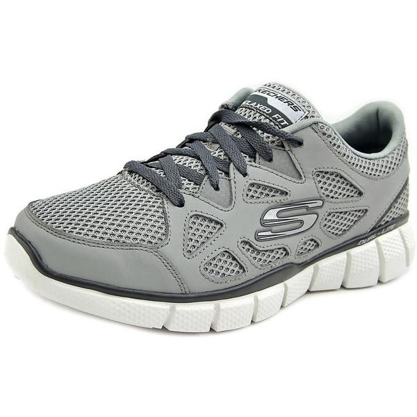 Skechers Groy Men Round Toe Synthetic Gray Walking Shoe