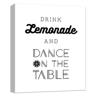 """PTM Images 9-124831  PTM Canvas Collection 10"""" x 8"""" - """"Drink Lemonade and Dance on the Table"""" Giclee Dance Art Print on Canvas"""