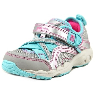 Stride Rite M2P Serena Infant W Round Toe Synthetic Silver Sneakers