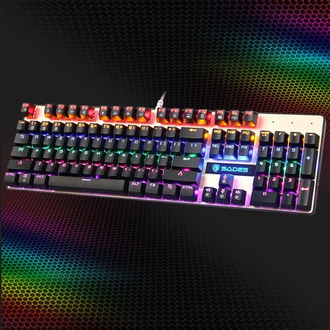 Sades K10 Mechanical Gaming Keyboard LED Backlight USB Wired Ergonomic for PC