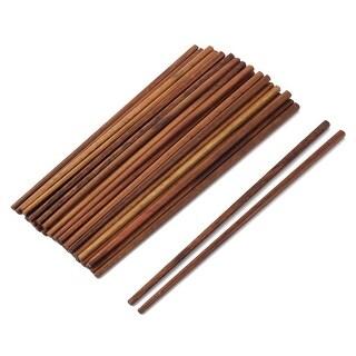 Household Kitchen Wood Tableware Non-slip Dinner Lunch Chopstick Brown 20 Pairs