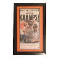 Houston Chronicle Astros 2017 World Series Champs Baseball Framed Newspaper