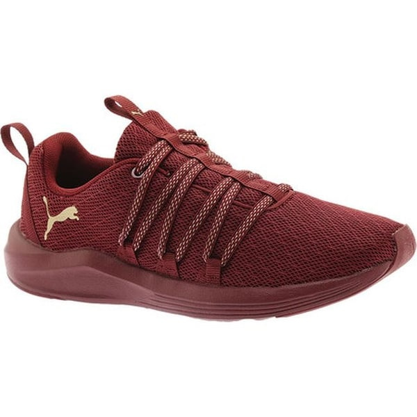 e330b77d43d6 Shop PUMA Women s Prowl Alt Knit Mesh Trainer Cordovan Metallic Gold ...