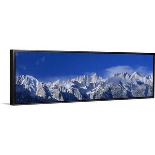 """""""California, Mount Whitney"""" Black Float Frame Canvas Art"""