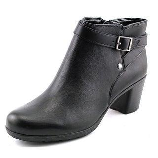 Easy Spirit Adino W Round Toe Leather Ankle Boot