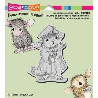 "Stampendous House Mouse Cling Stamp 3.5""X4""-Graduate"