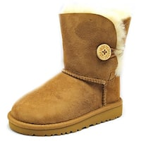 Ugg Australia Bailey Button Toddler  Round Toe Suede Brown Winter Boot