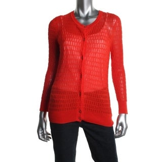 Marc by Marc Jacobs Womens Cardigan Sweater Open Stitch Long Sleeves - s