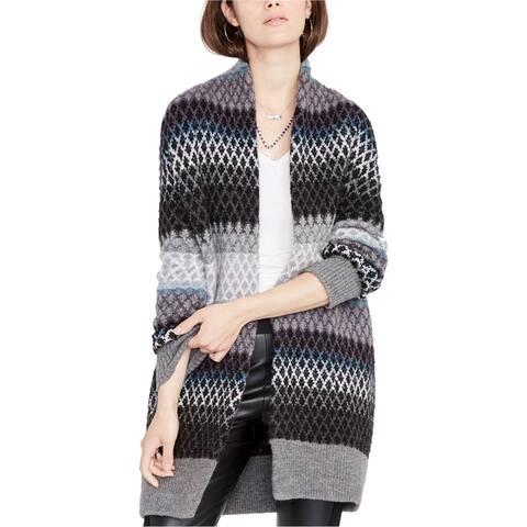 Rachel Roy Womens Ombre Diamond Cardigan Sweater