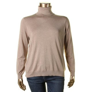 Ralph Lauren Womens Plus Turtleneck Top Turtleneck Ribbed Knit - 1x