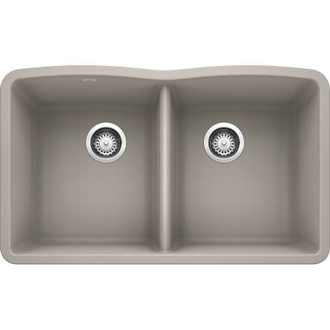 Blanco PRECIS Undermount Granite Composite 24 in. Single Bowl Kitchen Sink in Truffle (522417)