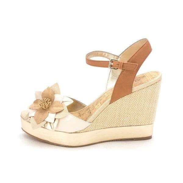 Alfani Womens Frolic Leather Open Toe Casual Platform Sandals - 8.5