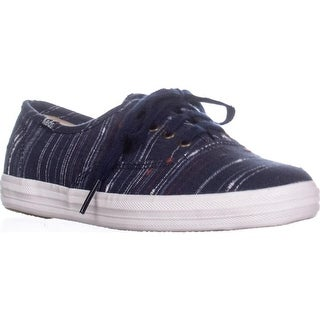 Keds Champion Slub Fashion Sneakers, Navy - 5.5 us