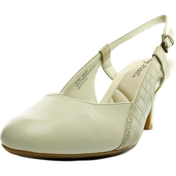 Easy Street Kyla Women Round Toe Leather Slingback Heel