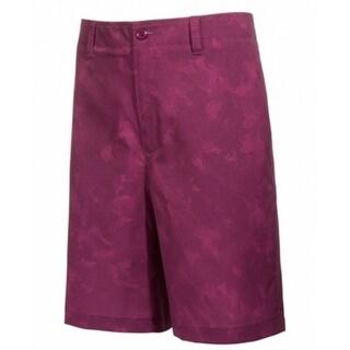 Tasso Elba NEW Plum Purple Mens Size 32 Flat Front Digi Camo Shorts