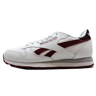 Reebok Men's Classic Leather Pop SC White/Metlot V69382