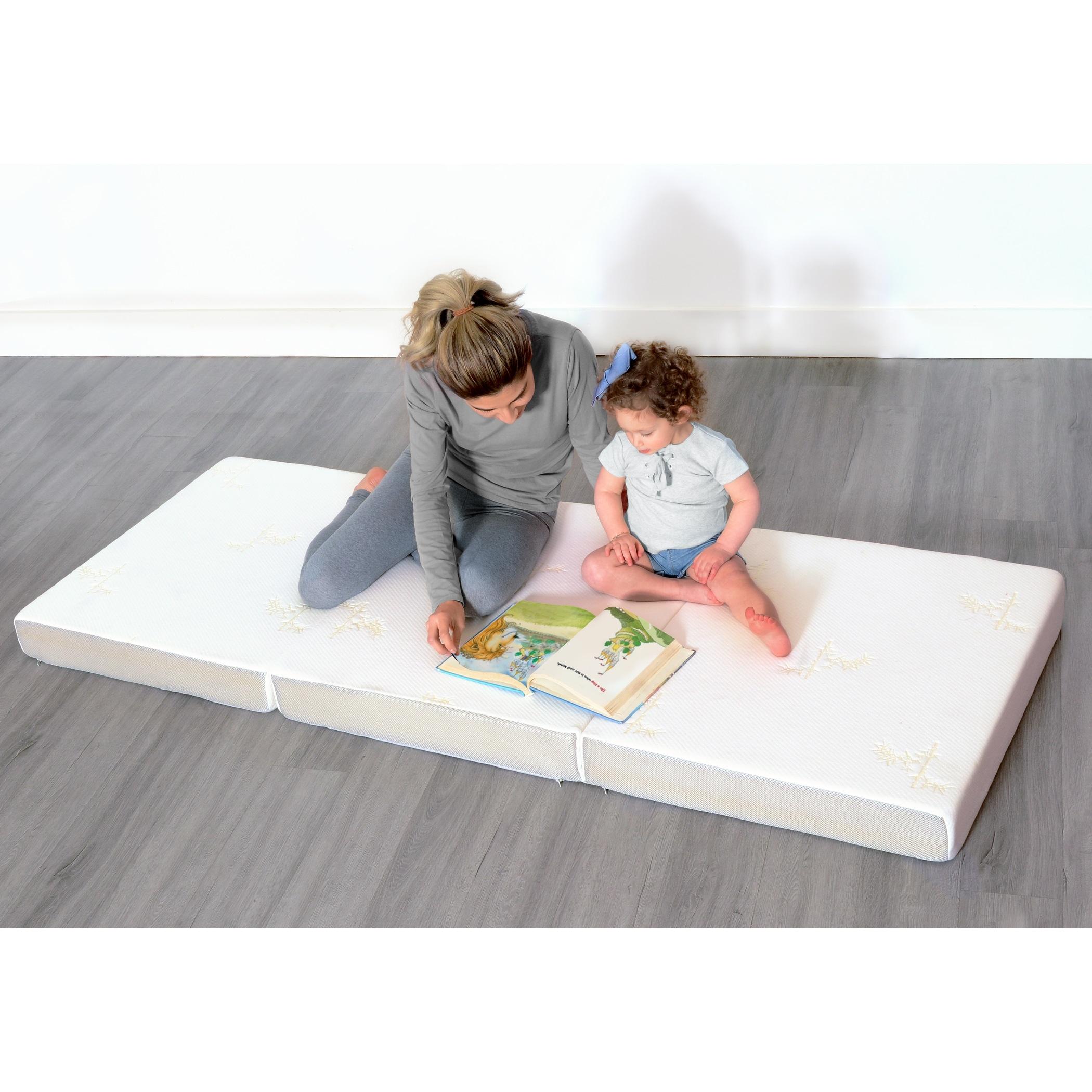 Milliard 6 Inch Memory Foam Tri Fold Full Size Mattress Overstock 21827442