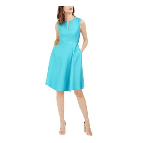 NATORI Turquoise Sleeveless Above The Knee Dress 10