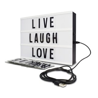 Northpoint Light Box with Letters & Numbers Tiles with USB - White
