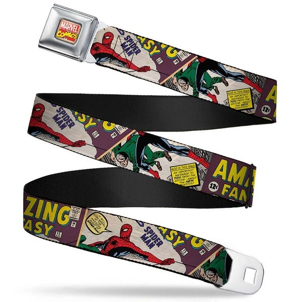 Marvel Comics Marvel Comics Logo Full Color Spider Man Amazing Fantasy Seatbelt Belt