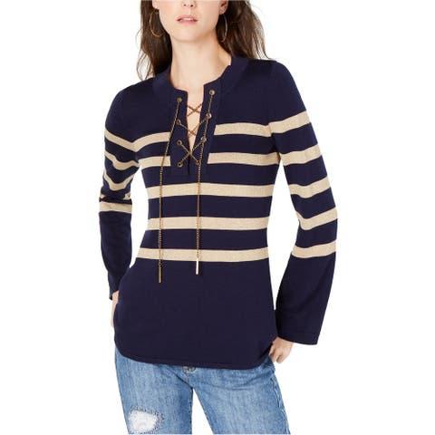 Michael Kors Womens Laced Chain Tunic Sweater