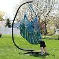 Sunnydaze Jumbo Hanging Chair Hammock Swing - Thumbnail 3