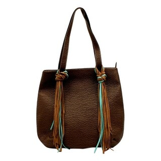 "Blazin Roxx Western Handbag Womens Tote Jolie Fringe Brown N7588702 - 15 1/2"" x 2"" x 15 1/2"""