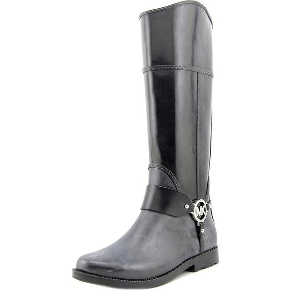 Michael Michael Kors Fulton Harness Tall Rainboot Women  Black Rain Boot