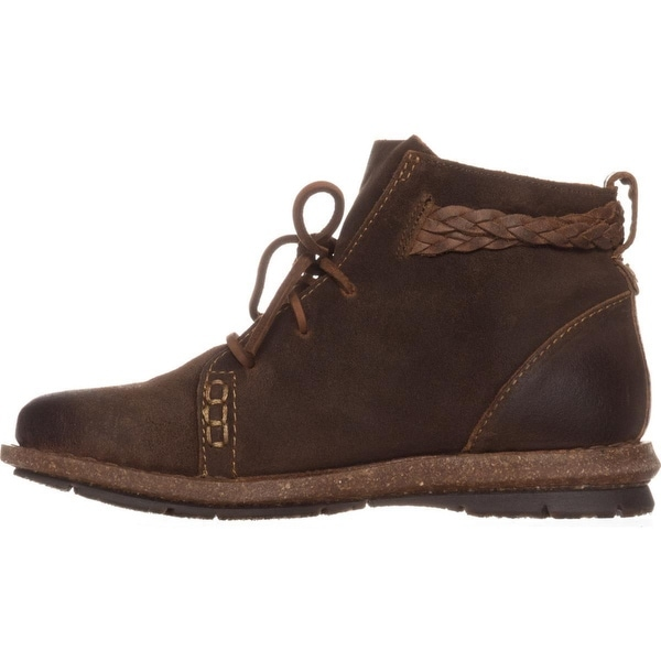 Born Temple Braided Ankle Boots, Rust