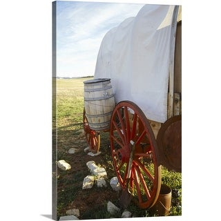 Premium Thick-Wrap Canvas entitled Covered wagon, UT (4 options available)