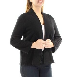 ANNE KLEIN $119 Womens New 1326 Black Open Cardigan Long Sleeve Sweater L B+B