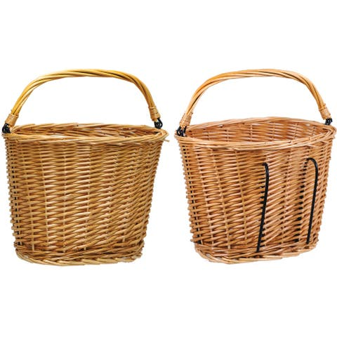 Altair wicker lift off w/handle tan 12x9x9 basket bs0082