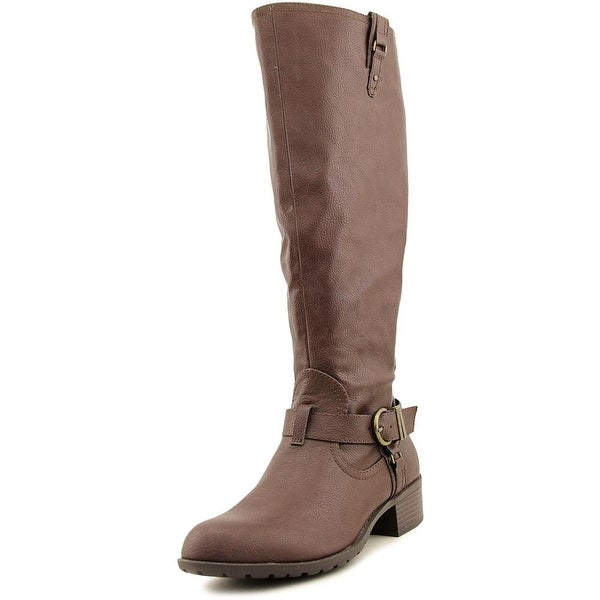 Rampage Intense Round Toe Synthetic Knee High Boot